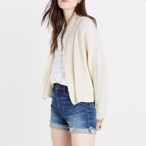 Madewell Shawl Collar Crop Cardigan Sweater